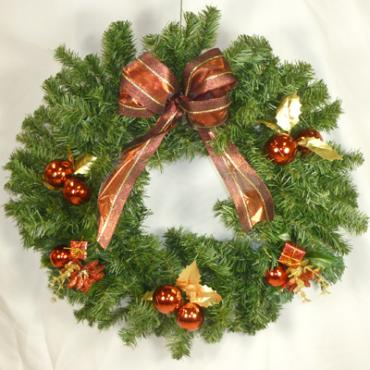 Yule Log 24 inch Holiday Wreath