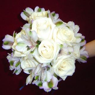 White Rose and Alstro Bouquet