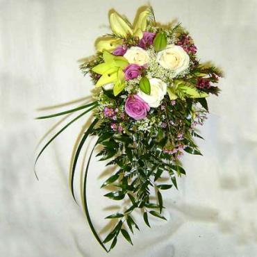 Lilies and Lavender Bouquet