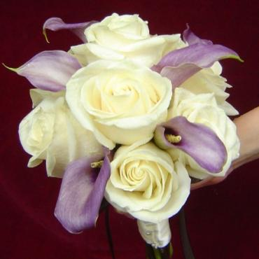 White Rose, Lavender Calla Bouquet